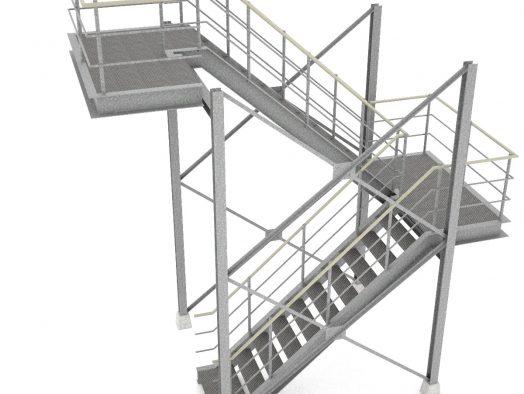 Переходные лестницы через площадки