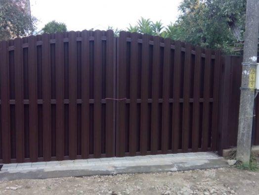 ворота из металлоштакетника - от 850 рублей