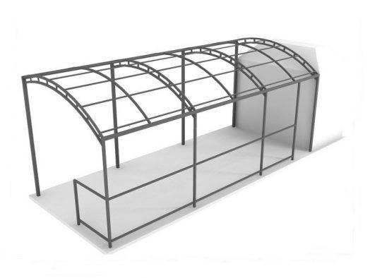 каркас остановки 2 - от 180 рублей за 1 метр квадратный