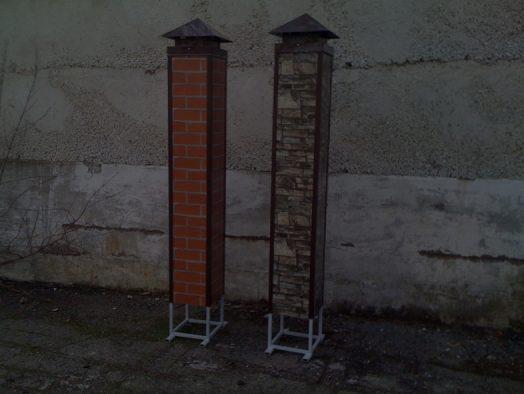 Обрамление колонн уголком