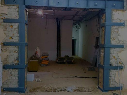 Перемычки строительных проемов из уголка или швеллера
