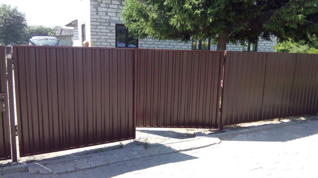 ворота из профлиста - от 650 рублей
