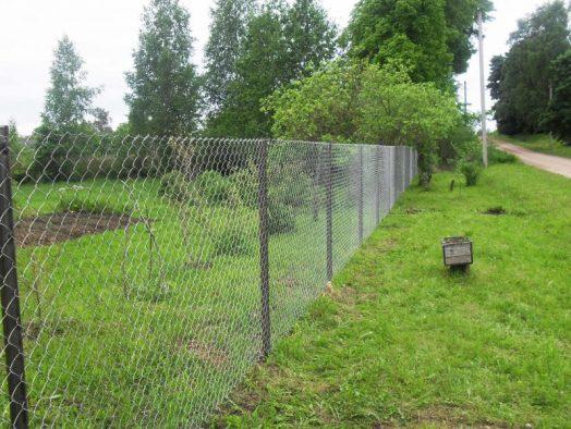 забор из сетки рабицы - от 15 рублей за 1 м.п. вместе с сеткой
